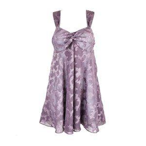 VICTORIA'S SECRET Purple Sheer Burnout Babydoll S